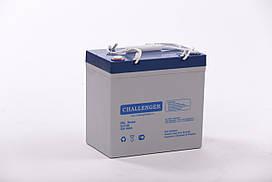 Гелевый аккумулятор Challenger G12-55 Ah 12V
