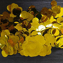 Аксесуари для свята конфеті кружечки золото 12 мм х 12 мм 50 грам
