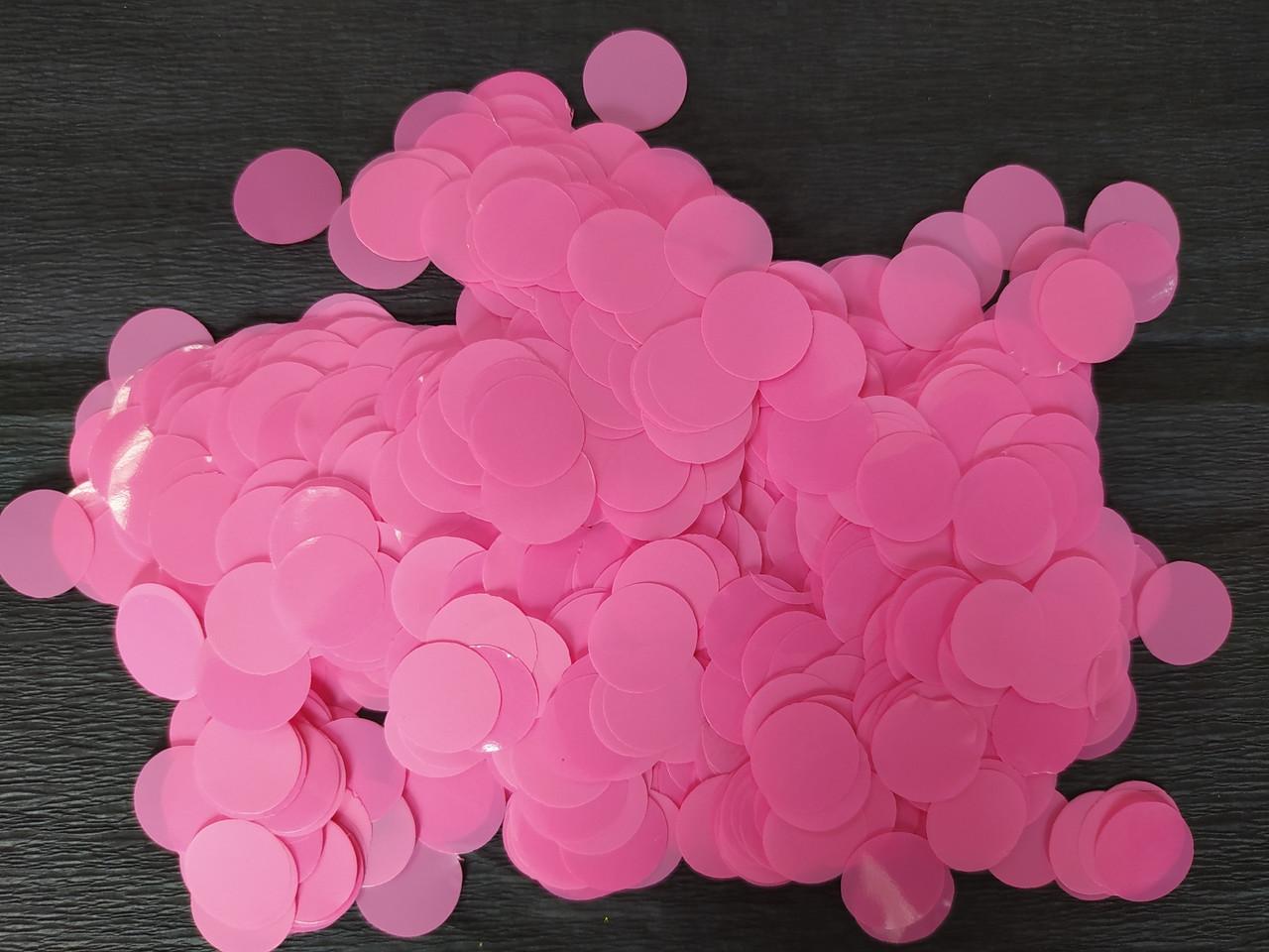 Аксесуари для свята конфеті Кружечки світло рожеві 12 мм х 12 мм 100 грам