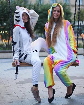 Пижама Кигуруми - Радужный Единорог - Оригинал
