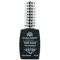 Топ для ногтей Global Fashion 12 мл Top Сoat Non-Cleanser Алмазный