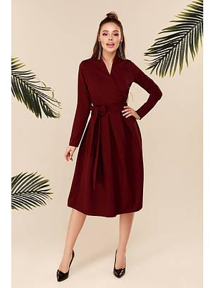 Сукня бордо з пишною спідницею демісезонне, фото 2