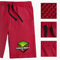 Шорты для мальчика Майнкрафт (Minecraft) Lacoste Темно-красный