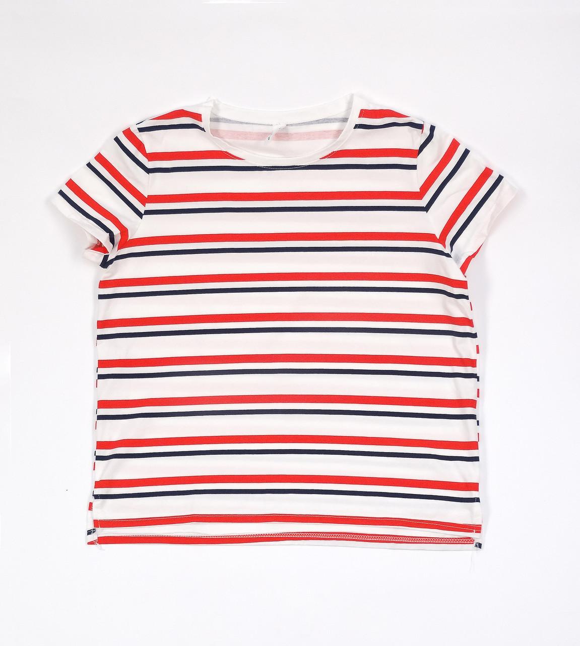 Полосатая универсальная женская футболка (48-50)