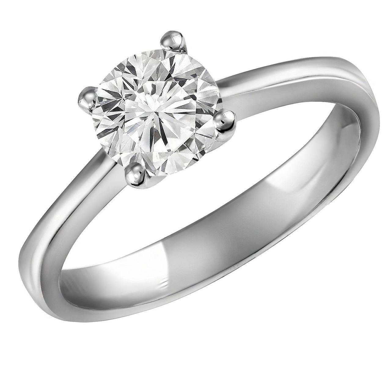 Золотое кольцо с бриллиантом, размер 17 (114216)