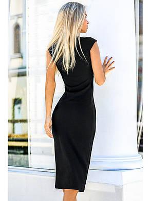 Чорне плаття-футляр. Сезон весна - літо, фото 2