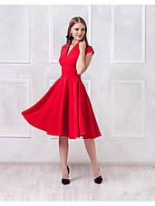 Платье длины миди с V-образным вырезом купить оптом и в розницу, фото 2