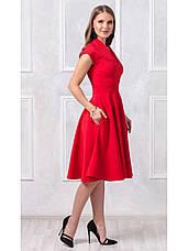 Платье длины миди с V-образным вырезом купить оптом и в розницу, фото 3
