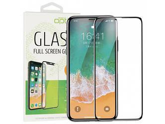 Защитное стекло Optima 3D iPhone 11 Black на экран телефона.