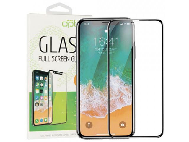 3D защитное стекло на iPhone XR Black на экран телефона.