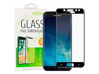 Защитное стекло Optima 3D Samsung A015 (A01) Black на экран телефона.