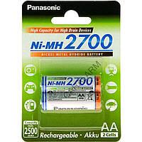 Аккумулятор Panasonic High Capacity AA 2700 mAh 2BP Ni-MH BK-3HGAE/2BE