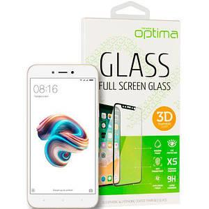 3D защитное стекло на Xiaomi Redmi 5a White на экран телефона.