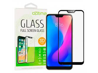 3D защитное стекло на Xiaomi Redmi 7a Black на экран телефона.