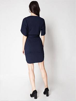 Платье трикотажное в темно-синем цвете. Сезон весна - лето, фото 2