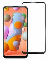 Защитное стекло LUX для Samsung Galaxy A11 (A115) Full Сover черный 0,3 мм в упаковке