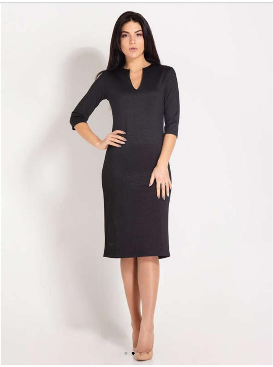 Плаття-футляр крапля чорного кольору. Сезон весна-осінь.