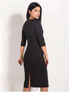 Плаття-футляр крапля чорного кольору. Сезон весна-осінь., фото 2