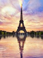 Картина для рисования по номерам, Париж 40х50 см.