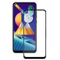Защитное стекло LUX для Samsung Galaxy M11 (M115) Full Сover черный 0,3 мм в упаковке