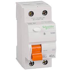 Дифференциальный выключатель (УЗО) Schneider Electric Домовой ВД63, 2P 40А 300мА,  11453