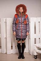 Зимнее пальто для девочки К-99