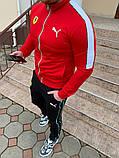 Мужской спортивный костюм Puma Ferrari красный, фото 2