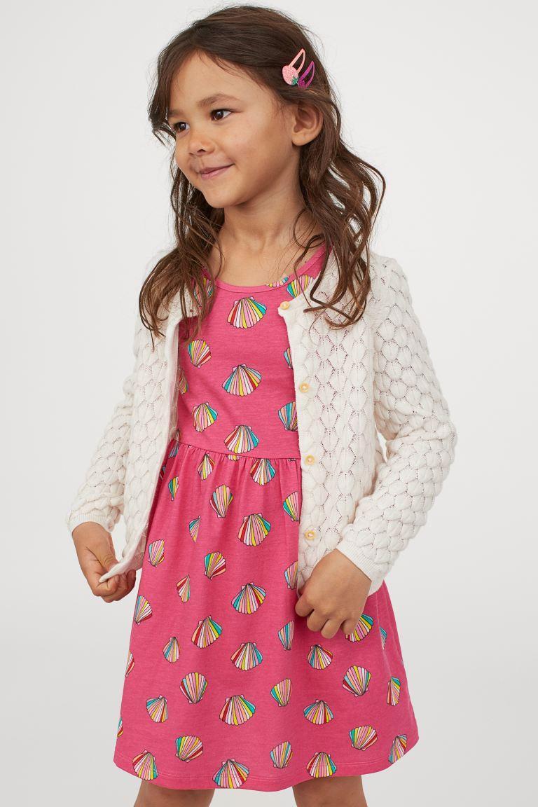 """Платье сарафан H&M """"Ракушки"""" для девочек (розовое)"""
