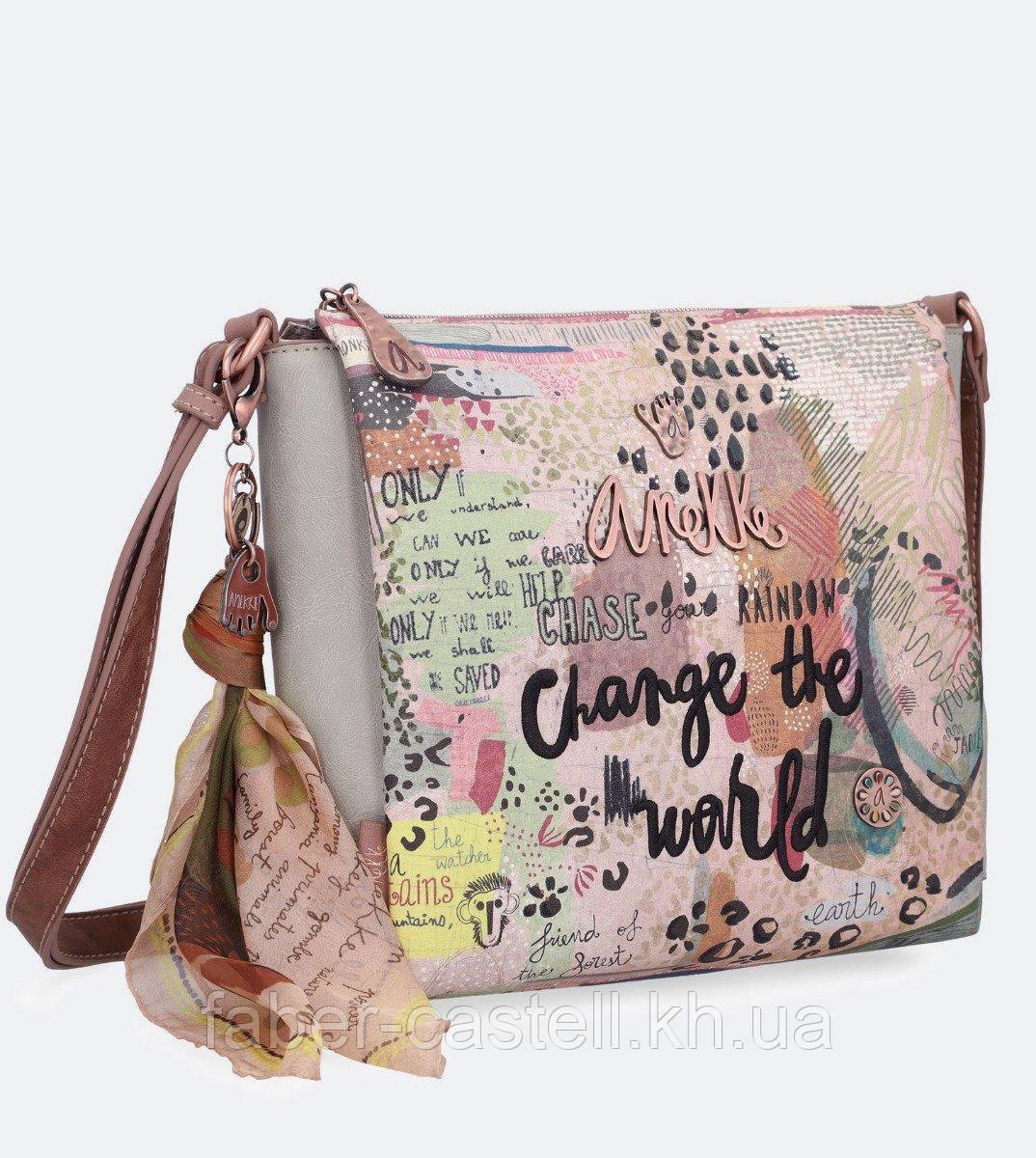 Сумка женская на плечо  Anekke Jungle Natural printed crossbody bag, 30712-103