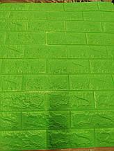 Панель стінова 3D Sticker Wall Wall Sticker самоклеюча 70х77 см зелений цегла