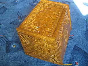 Хлібниця подарункова різьблена, фото 3