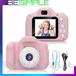 Дитяча Фотокамера Sonmax c 2.0 дисплеєм і з функцією відео Рожева