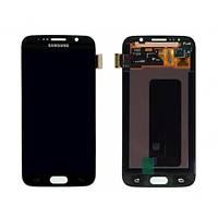 Дисплей для Samsung Galaxy S7 edge, черный, с сенсорным экраном,  Service pack (OLED)