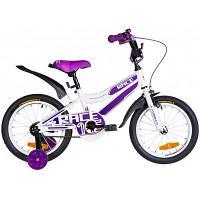 """Детский велосипед Formula 16"""" RACE рама-9"""" St 2020 бело-фиолетовый (OPS-FRK-16-109)"""