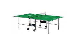 Теннисный стол для помещений GSI-Sport Athletic Light Green Gp-2 / Blue Gk-2