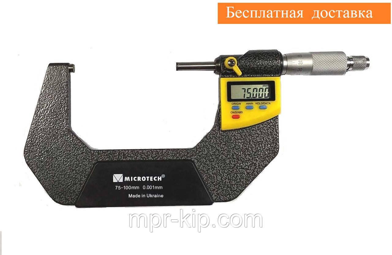 Мікрометр цифровий МКЦ(4)-100-0,001. клас точності 1 (±0,003). IP54. Мікротех Україна