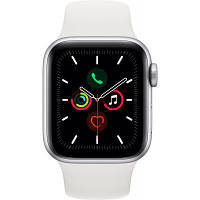 Смарт-часы Apple Watch Series 5 GPS, 44mm Silver Aluminium Case with White Sp (MWVD2GK/A)