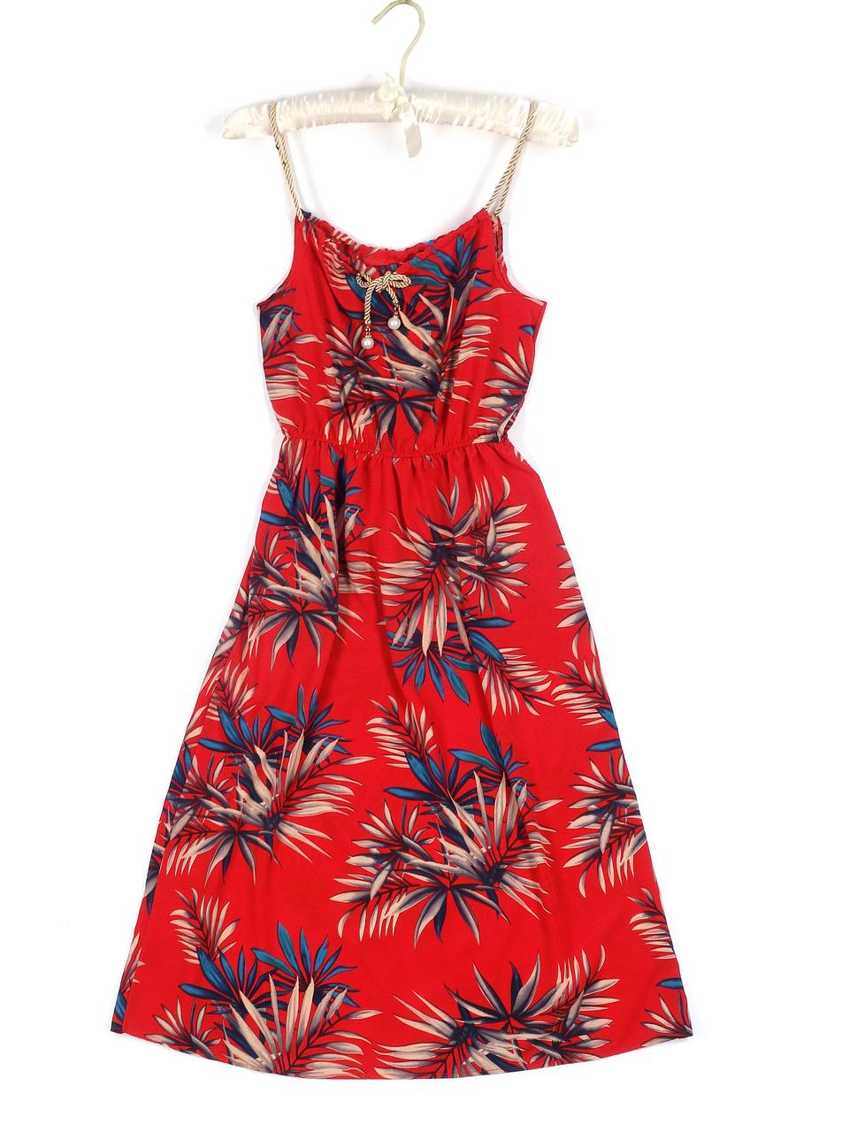 Яркое красное длинное платье с цветами (44)
