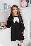 Детское школьное платье итальянский трикотаж школьная форма для девочки размер: 128,134,140,146, фото 2