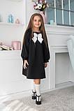 Детское школьное платье итальянский трикотаж школьная форма для девочки размер: 128,134,140,146, фото 8