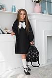 Детское школьное платье итальянский трикотаж школьная форма для девочки размер: 128,134,140,146, фото 5