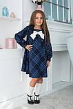 Детское школьное платье итальянский трикотаж школьная форма для девочки размер: 128,134,140,146, фото 7