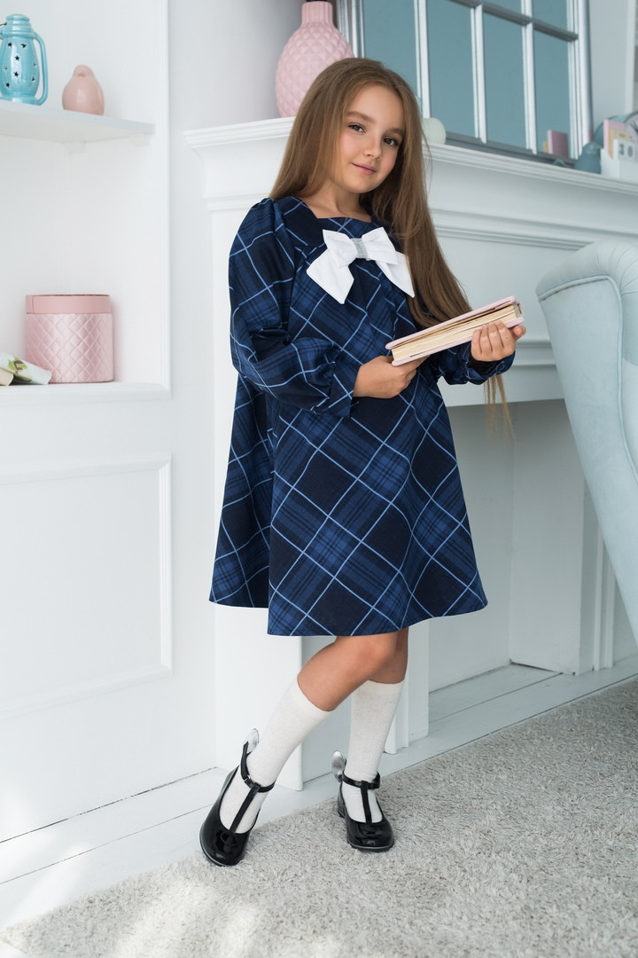 Детское школьное платье итальянский трикотаж школьная форма для девочки размер: 128,134,140,146