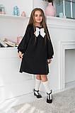 Детское школьное платье итальянский трикотаж школьная форма для девочки размер: 128,134,140,146, фото 9