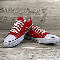 Мужские летние кеды, красные Converse
