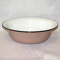 Миска эмалированная, таз на 7-8 л размер 40 х 12 см
