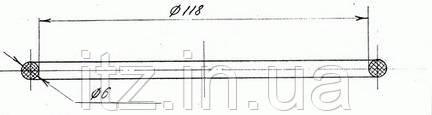 Кільце ущільнювальне 6Д49.35.49 (Д217.00.47)