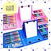 Набор 208 предметов для детского творчества в чемодане,набор канцелярских товаров,для рисования с мольбертом, фото 4