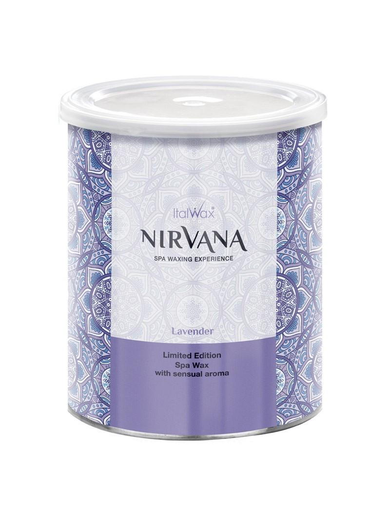 Теплый воск для депиляции в банке Italwax NIRVANA Лаванда (Lavender), 800 мл