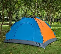 Туристическая палатка автомат  Leomax  2/2 метра, 4-х местная, Синяя